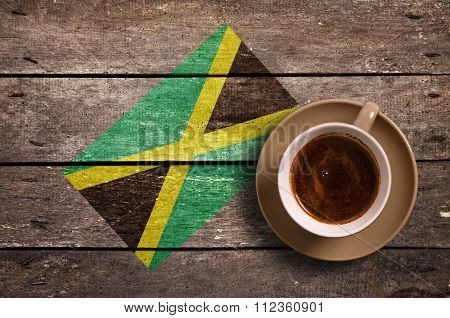 Jamaica Flag With Coffee