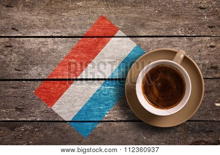 Luxembourg Flag With Coffee