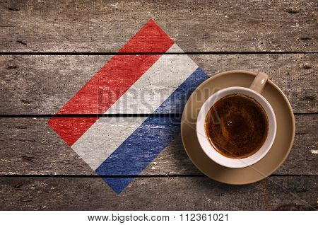 Netherlands Flag With Coffee