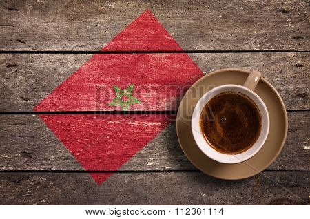 Morocco Flag With Coffee