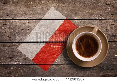 Poland Flag With Coffee
