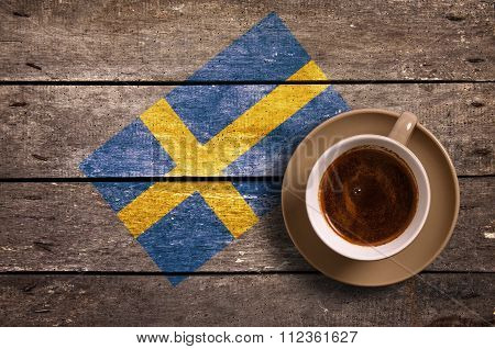 Sweden Flag With Coffee