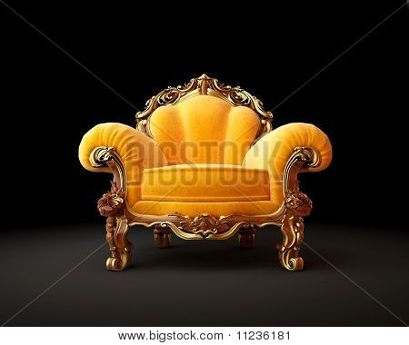 Antique Chair Isolated