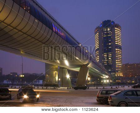 Trade-Pedestrian Bridge Bagration