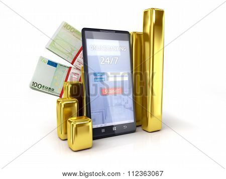 Mobile Banking Tracking Euro Exchange Rates