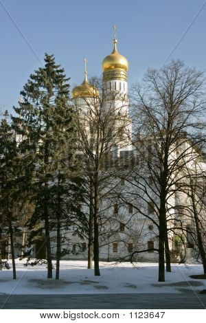 Moscow, Kremlin, Troitskiy Cathedral.