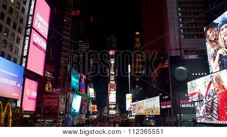 New York City, New York - December  -  Christmas Display at Time Square