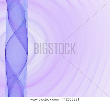 Abstract White Background With Light Purple And Blue Column (sidebar) And Waves Smoke Texture