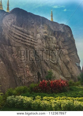 Garuda Carve On Cliff
