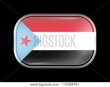 Flag Of South Yemen. Rectangular Shape With Rounded Corners