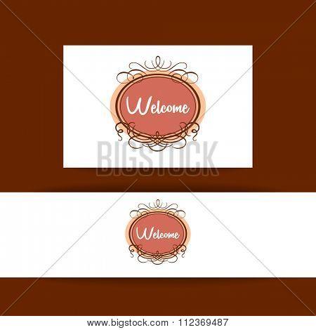 Welcome - design template invitation. Gala decorations.