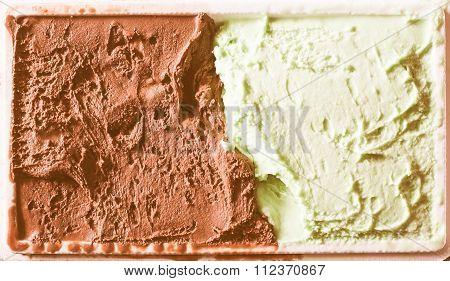 Retro Looking Chocolate And Mint Icecream