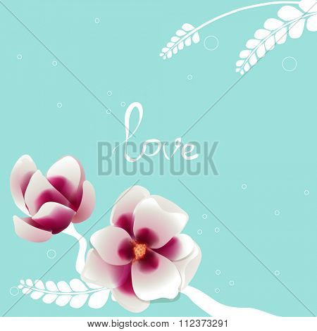 Spring background with blossom brunch of pink flowers. Template for wedding, valentine day, mothers day, birthday, invitations.