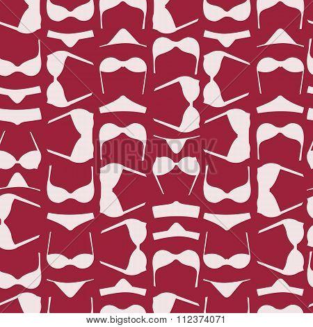 Bra And Panties Purple Seamless Pattern