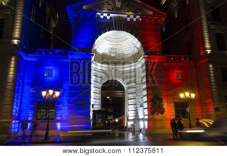 The Entry Into Police Headquarters, Paris, France.