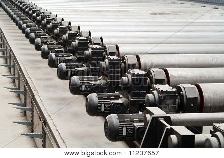 Motors of rolling mill in factory