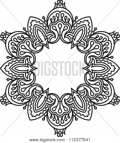Unusual, Hexagonal, Lace Frame, Decorative Element With Empty Place For Your Text. Vector Illustrati