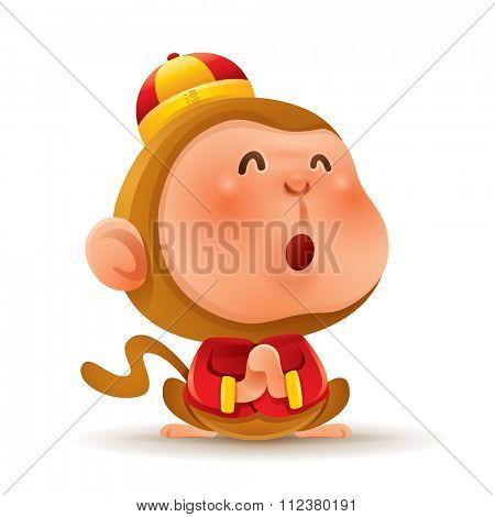 Chinese Zodiac - Monkey. Chinese New Year. Gong xi Gong xi.