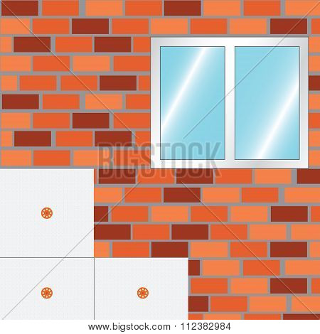 How To Insulate A Wall. Strat Insulate.  Vector.