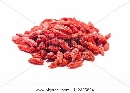 The Goji berries isolated
