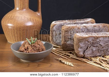 Bowl Of Soy Bean Paste.
