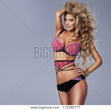 Sensual Woman Wearing Lingerie.