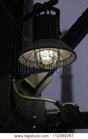 street industrial led night lamp closeup