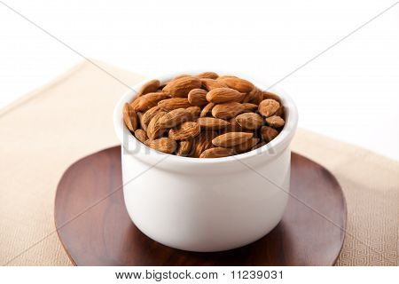 Macro view of almonds