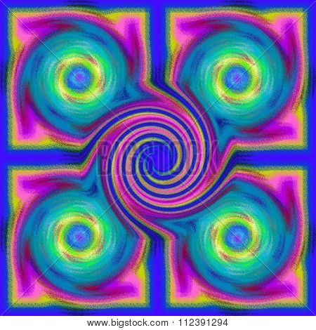 Psychedelic blur glass spiral