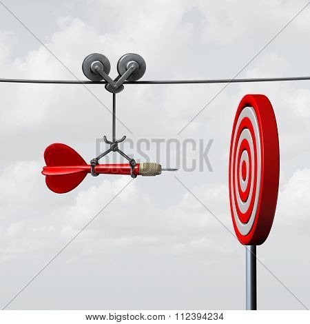 Success Hitting Target