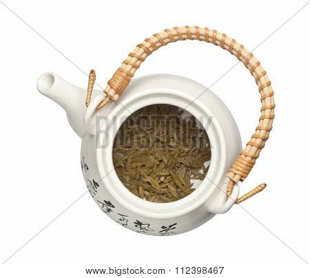Teapot With Chinese Tea Leaves