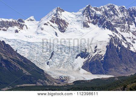 Alpine Glacier On A Sunny Day