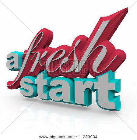 A Fresh Start - 3D Words