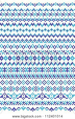 Seamless Texture Of Winter Patterns