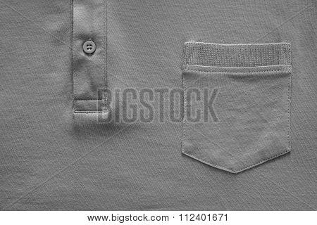 Part Shirt Closeup Of Gray Color