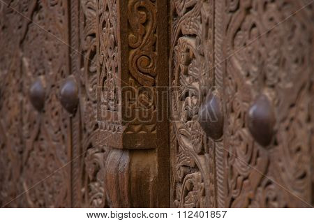 Wooden door carvings