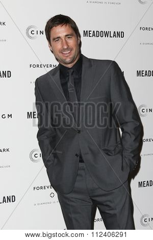 NEW YORK-OCT 11: Actor Luke Wilson attends the premiere of 'Meadowland' at Sunshine Landmark on October 11, 2015 in New York City.