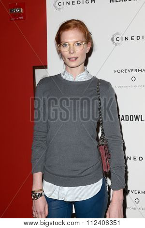 NEW YORK-OCT 11: Actress Jessica Joffe attends the premiere of 'Meadowland' at Sunshine Landmark on October 11, 2015 in New York City.