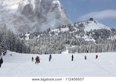 Dolomites skiing resort.