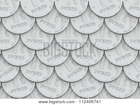 Mail of coins in one ruble