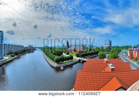 View on historical center in Kaliningrad. Russia