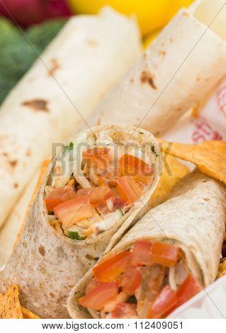 Chicken Doner Kebab Or Chicken Shawarma