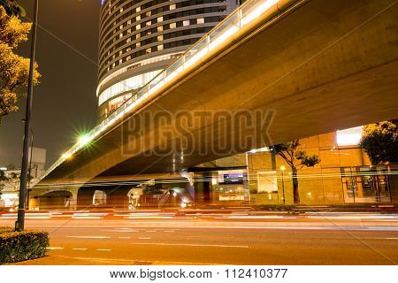 Overpass and light trails