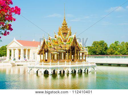 Phra Thinang Aisawan Thiphya-art At Bang Pa-in Royal Palace In Bang Pa-in Ayutthaya , Thailand On De
