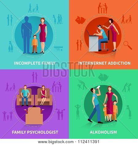 Family  Conflict Design Concept Set