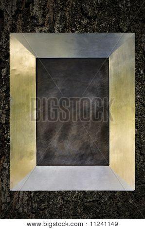Modern Frame On Crack Wood