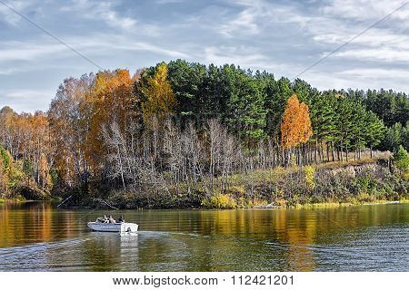 Autumn Landscape On The River