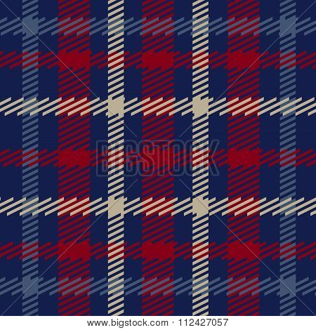 Vector seamless scottish tartan pattern in navy red beige and blue.