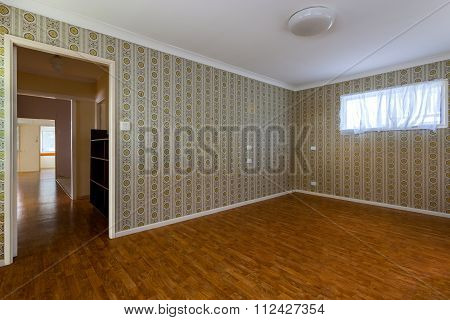 Empty Room With Decorated Walls