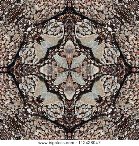 Abstract Seamless Pattern Background. Gravel Stone And Cobble Stone Texture